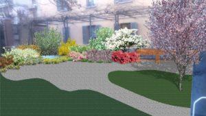 Giardino e orto cromo terapia piccolo percorso alzaimer
